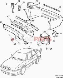 Car exterior parts diagram interior of body