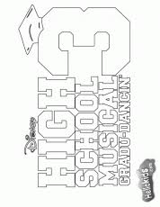 Small Picture Papers High School Musical Coloring Pages 3 Free Printable