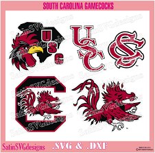 Gamecock Embroidery Design Collection South Carolina Gamecocks Set Design Svg Files Cricut