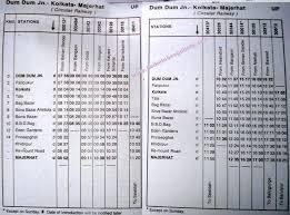 Dumdum Majherhat Kolkata Circular Train Timetable Bbd