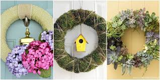spring front door wreaths15 DIY Spring Wreaths  Ideas for Spring Front Door Wreath Crafts