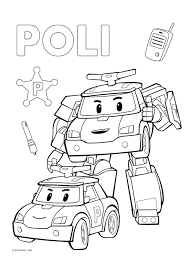 robocar poli rescue team adventures colouring book