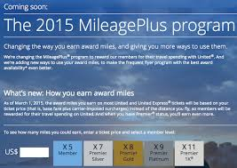 United Mileage Miles Chart United Mileageplus Program Revenue Based Program Details