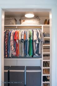 diy closet makeover with lots of organization