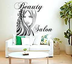 salon pictures for wall salon wall decor luxury beauty sticker montage hair word art nail decorating