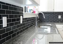 Black Granite Countertops With Tile Backsplash Interesting Contemporary Black Glass Tile Backsplash Slate New Caledonium