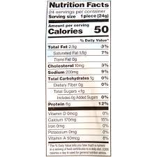 Mozzarella Light Nutrition Facts Frigo Cheese Heads Light String Cheese 20 Oz 24 Count