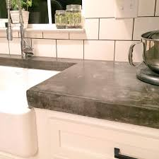 concrete outdoor kitchen countertops unique thick concrete countertops and subway tiles to make a statement