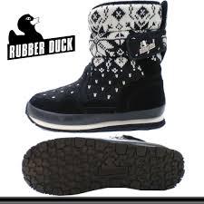 Rubber Duck Snow Boot Snowjoggers Ladys Pau Tea Snow Joggers Rubber Duck Sp Snow Knit Suede Black Lklk 33tnc