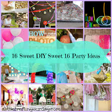 make your own birthday banner 16 sweet diy sweet 16 party ideas a little craft in your day