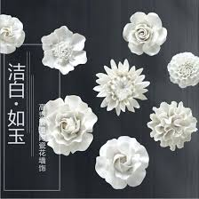 >white ceramic flower wall art ceramic flower wall art white uk  ceramic flower wall art promotion shop for promotional in image uk