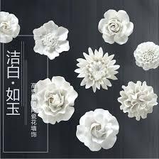 >white ceramic flower wall art ceramic flower wall art white uk  ceramic flower wall art promotion shop for promotional in image uk
