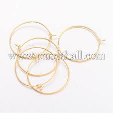 brass wine glass charm rings hoop earrings ec067 2g 1