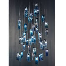 ocean breeze art glass chandelier 15099