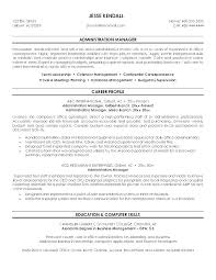 Resume For Administrative Job Administrative Executive Resume Great