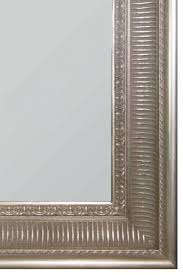 ornate styled silver mirror