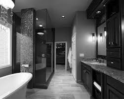 traditional black bathroom. Traditional Black And White Bathroom Tile Wall Metal Chrome Faucet Paint With Frame Chair H