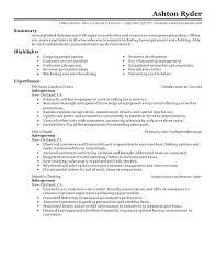 Retail Resume Template Free Retail Sales Associate Resume Sample