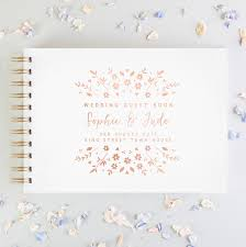 Wedding Guest Book Floral Personalised Wedding Guest Book