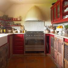 Country Farmhouse Kitchen Designs Fascinating Red Farmhouse Kitchen Housetohomecouk Farmhouse Red Kitchen Ideas