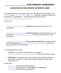 How to write a retainer agreement. Free Maryland Partnership Agreement Template Pdf Word Start Your Small Business Today