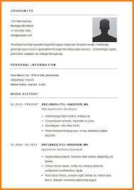 26 Basic Curriculum Vitae Example Utah Staffing Companies