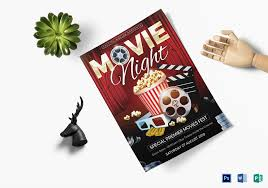 Movie Night Flyer Design Template In Word Psd Publisher
