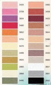 Burmilana Thread Color Chart Color Cards