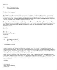 Letter Of Recommendation For A Company Service Recommendation Letter Templates 12 Free Word Pdf