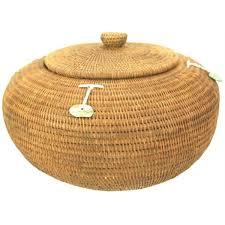 woven basket with lid. Woven Basket With Lid I