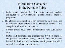 Information Contained in the Periodic Table - SliderBase