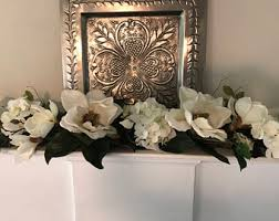 Magnolia Swag, White Magnolia Centerpiece, Mantle Swag, Magnolia and  Hydrangea Fireplace Swag