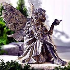 garden fairies statues. Cement Fairy Garden Statue Fairies Statues