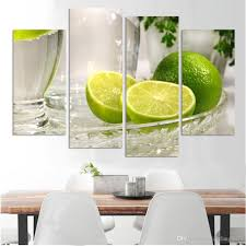 best quality 4 panels lemon fruit green canvas painting modern wall paintings for home decorative wall art picture paint on canvas printsno frame at cheap  on lemon lime wall art with best quality 4 panels lemon fruit green canvas painting modern wall