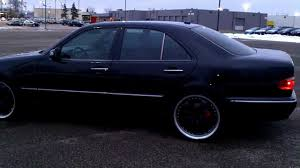 mercedes e320 on 20s black on black eclass - YouTube