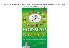 Ibs Fodmap Chart The Fodmap Navigator Low Fodmap Diet Charts With Ratings Of