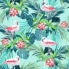 Summer Pattern Amazing Tropical Summer Seamless Pattern With Flamingo Birds And Jungle