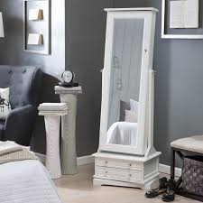 Stand Alone Mirror Bedroom Belham Living Swivel Cheval Jewelry Armoire White The Swivel