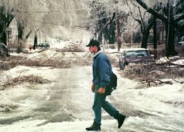 alberta floods the costliest natural disaster in canadian history 6 1998 a man walks across hingston ave amid fallen branches and