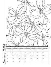 il_570xN.1248084881_p4z9 printable coloring calendar 2018 calendar instant download on 2018 monthly calendar printable