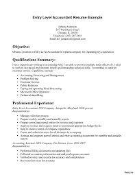 Resume For Accounting Therpgmovie