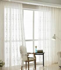 living room sheer window treatments. Simple Living Tulle Curtains Luxury Embroidered White Window Sheer Voile Living Room  Treatment Transparent Door Panel Drapes Grommet Top  To Treatments D