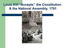 Image result for Louis was forced to accept the constitution of 1791,