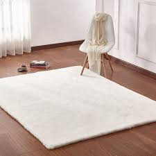 Off white area rug Hand Tufted Union Rustic Lineberger Handwoven Faux Fur Offwhite Area Rug Walmartcom Walmart Union Rustic Lineberger Handwoven Faux Fur Offwhite Area Rug