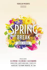 Spring Break Free Psd Flyer Template Free Psd Flyer