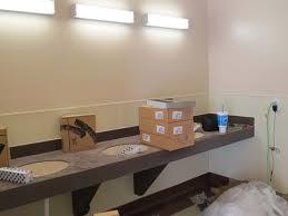 restroom lighting. womenu0027s restroom sinks and lighting
