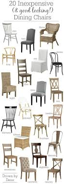 great post on where to find attractive and affordable dining room chairs along with links to 20 favorites