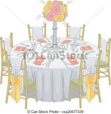 Reception Table Set Up Formal Reception Table