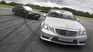 BMW Convertible bmw m5 vs mercedes e63 : BMW M5 versus Mercedes E63 AMG at Dunsfold