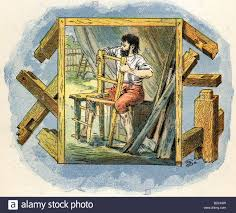 defoe daniel foe circa english author defoe daniel foe circa 1660 26 4 1731 english author writer works robinson crusoe making a chair illustrat